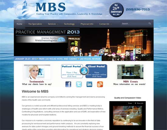 Medical Billing Specialists Website Design Ormond Beach