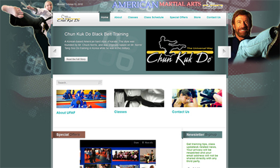 American Martial Arts Website Design Ormond Beach
