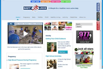 babyjock website design ormond beach