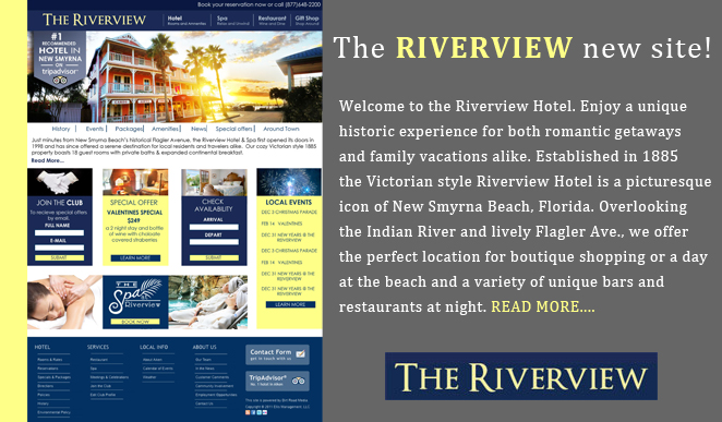 Riverview Hotel Ormond Beach Website Design