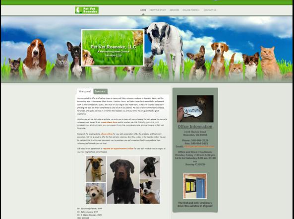 Pet Vet Roanoke Website Design Ormond Beach