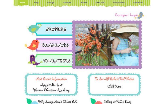 Posh Little Closet Ormond Beach website design