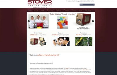 Stover Manufacturing Ormond Beach website design