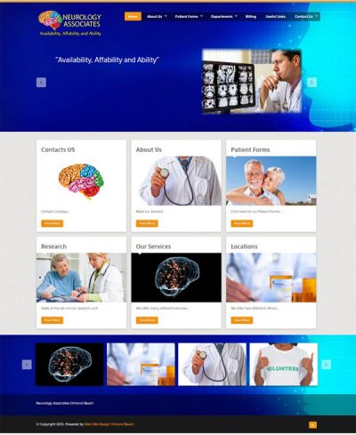 Neurology Associates Ormond Beach website design