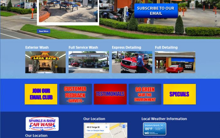 Sparkle N Shine car wash Ormond Beach website design