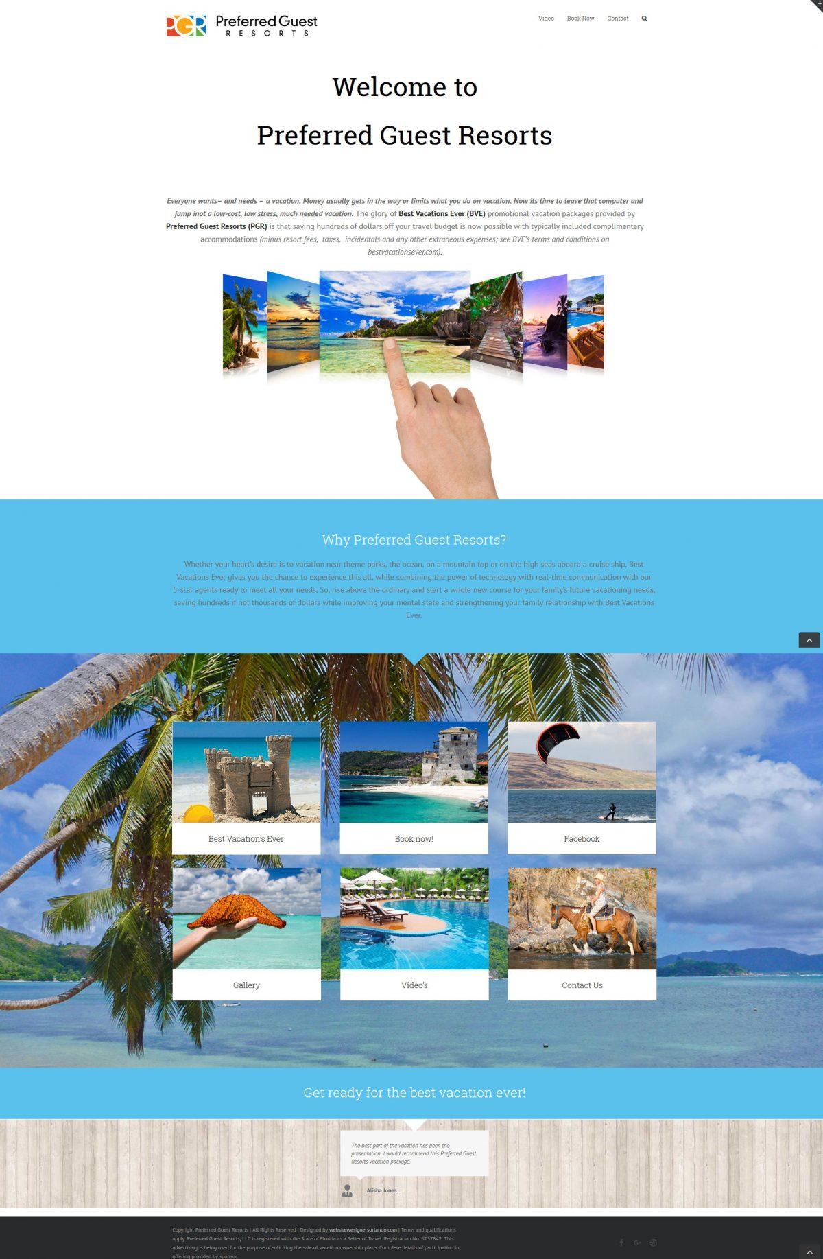 Best Vacations Ever Website Deign Ormond Beach